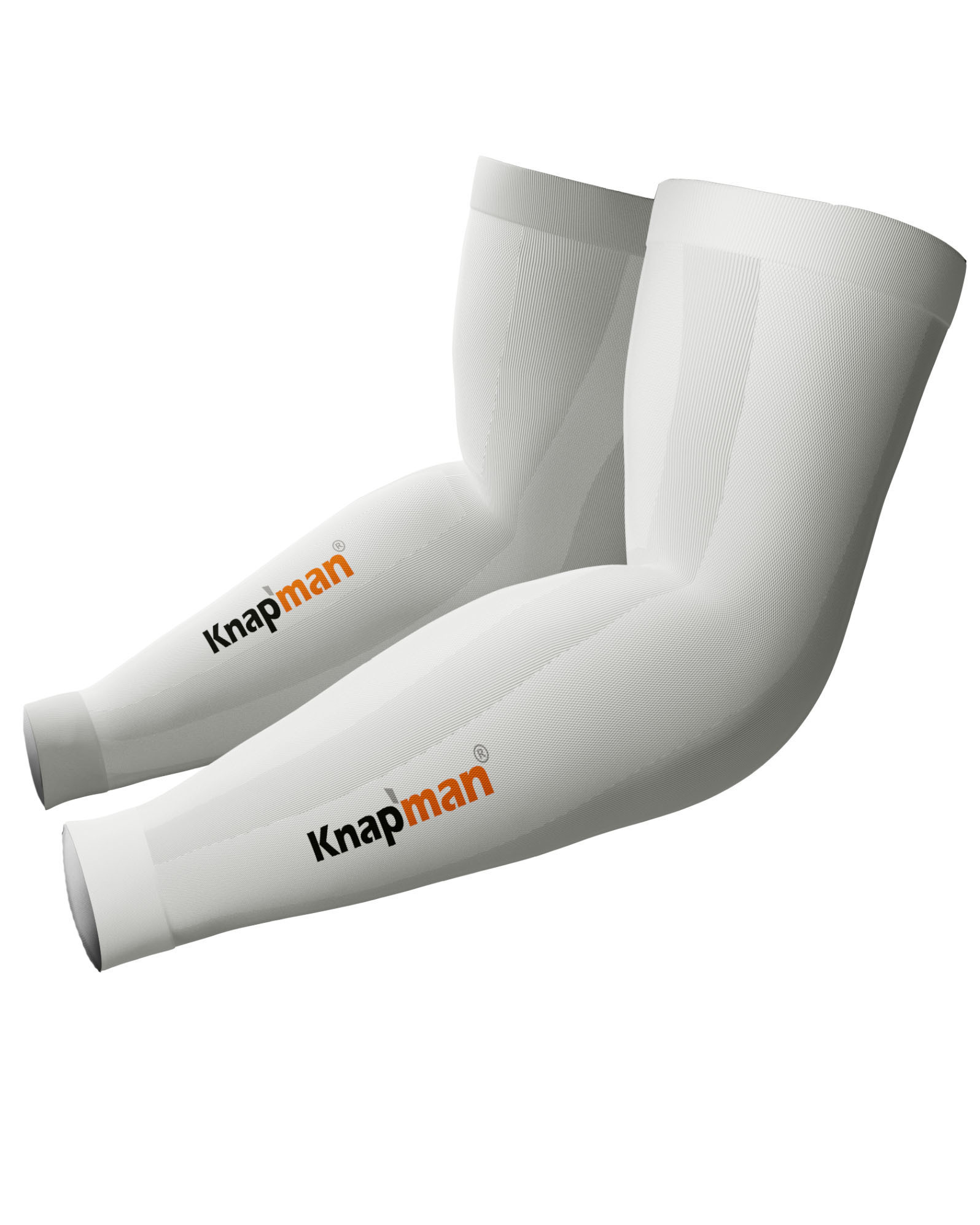 Knapman Zoned Compression Arm Sleeves 45% white