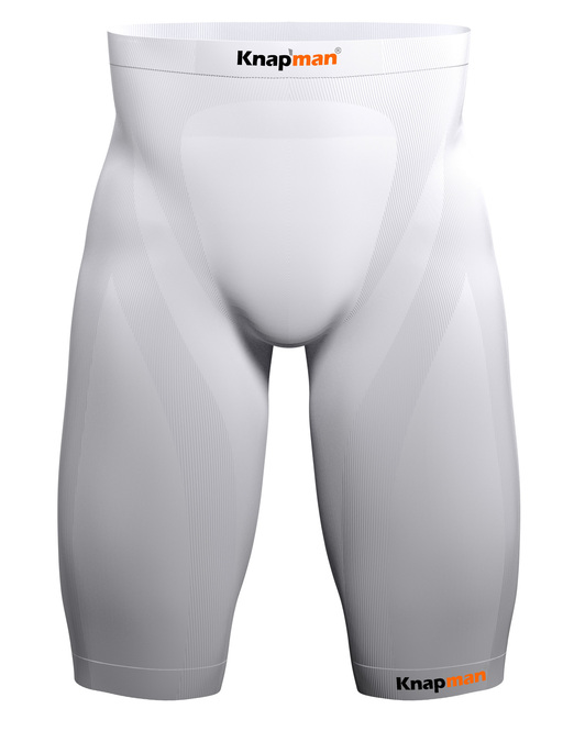 Knapman Mens Compression Shorts 25% white